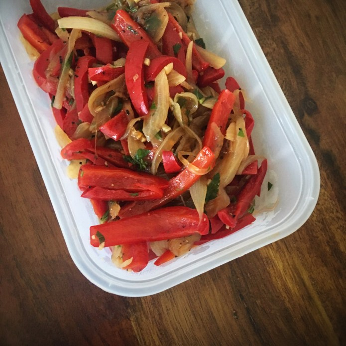 Peppers and Onions, Meal Prepped