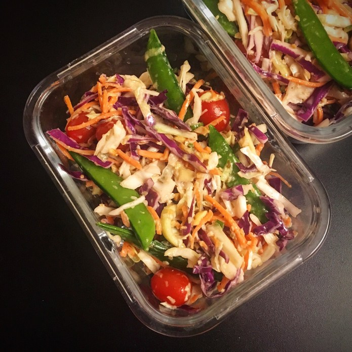 Melissa's Slaw of Cabbage, Carrots, Tomato, and Snap Peas