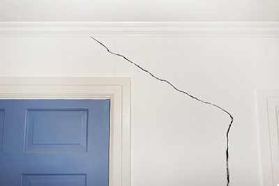 Cracks caused by house settling