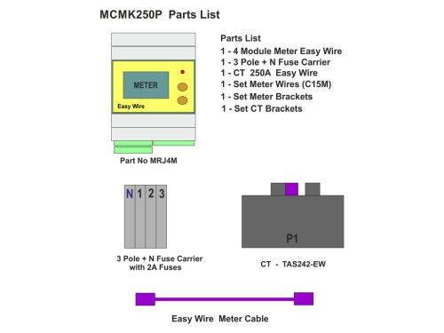 small resolution of  250a mccb panel board incoming meter kit mcmk250p