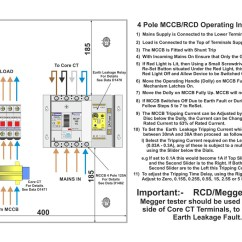 Rcbo Wiring Diagram 4 Pin Voltage Regulator Fully Adjustable 63a 3 Phase With Metal Enclosure