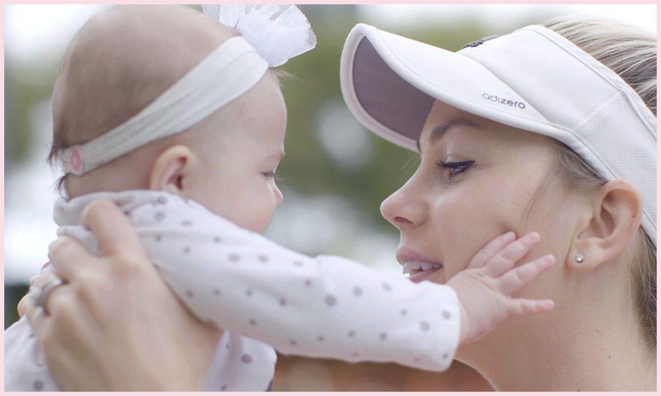McCall Jones with child