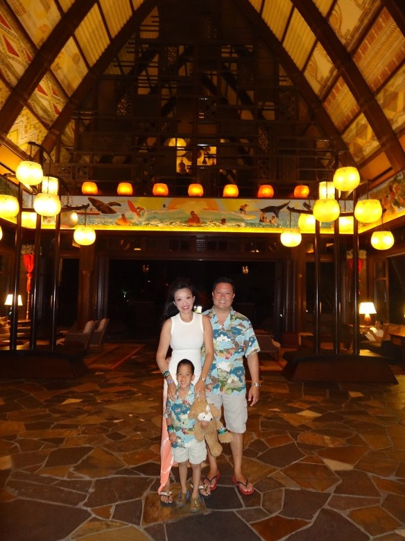 Pictured above is Gabby's family, his wife Aila and son Mateo, while on vacation