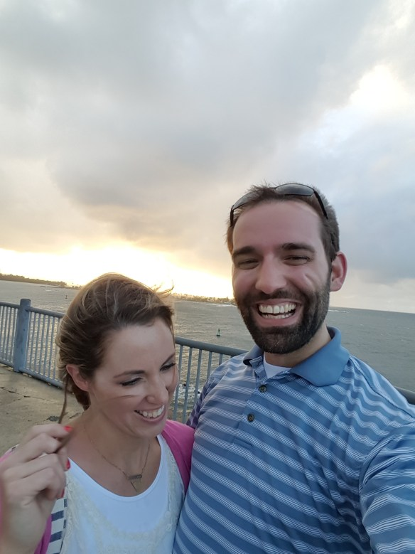 Pictured above is Chip with his sweetheart, Alissa. While Chip was working in Puerto Rico, his wife Alissa tagged along. They are standing at a windy El Morro, a nearly 500 year old fort in San Juan.