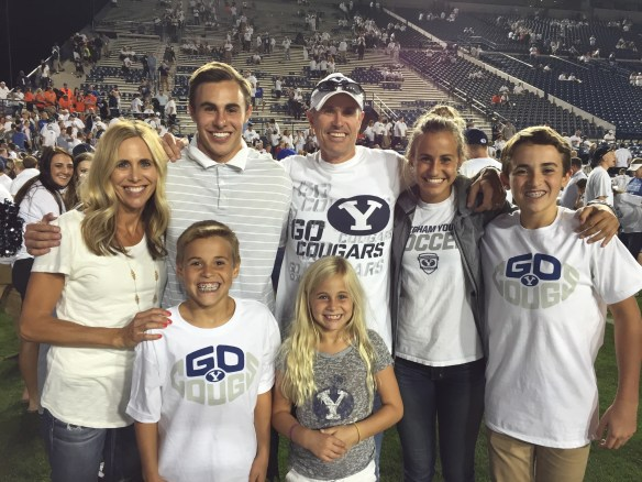 Pictured above is on the field after the BYU vs. Boise State game in 2015!