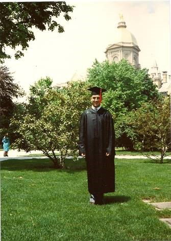 Pictured above is Tony graduating from Notre Dame