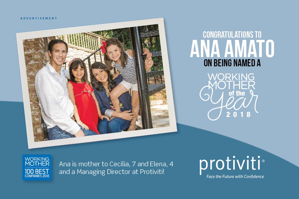Working Mother Ana Amato ad 2018