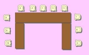 Mesas raras en los banquetes