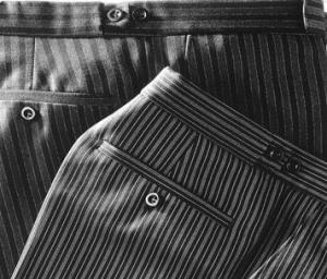 Diferentes pantalones de chaqué