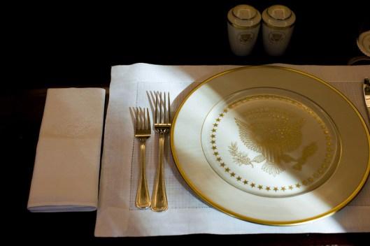 Servicio de mesa en la Casa Blanca