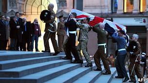 ensayo funeral Thatcher