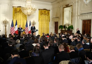 Rueda de prensa Obama y Hollande