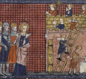 San Valentín y sus discipulos, anónimo, S.XIV