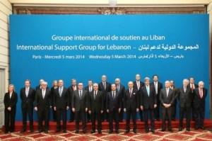 foto familia de la reunión del grupo de apoyo al Líbano