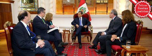 Reunión con el presidente Humala