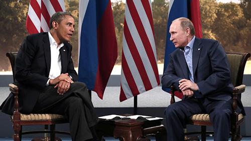Obama y Putin en la reunión del G8 de Irlanda jun 13 2