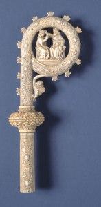 Báculo con la Coronación de María, S. XIV