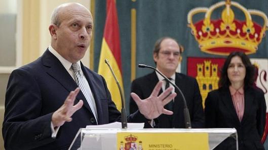 Cambio de ministro Gabilondo Wert