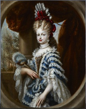 Miguel Jacinto Meléndez. Retrato de María Luisa gabriela de Saboya.