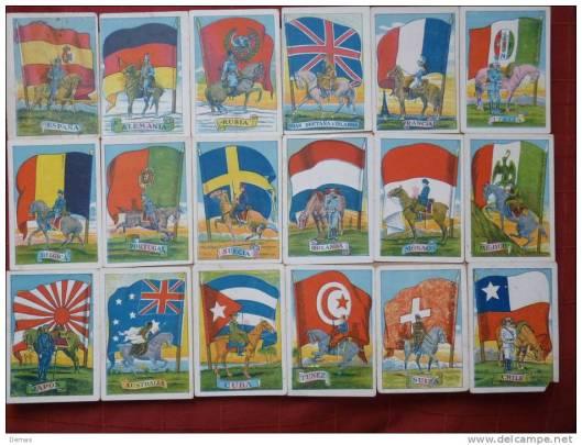banderas europeas cromos