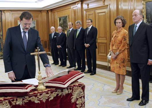 RAJOY JURA SU CARGO DE PRESIDENTE ANTE EL REY