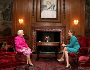Queen Elizabeth II holds a private audience with First Minister Nicola Sturgeon [PA]
