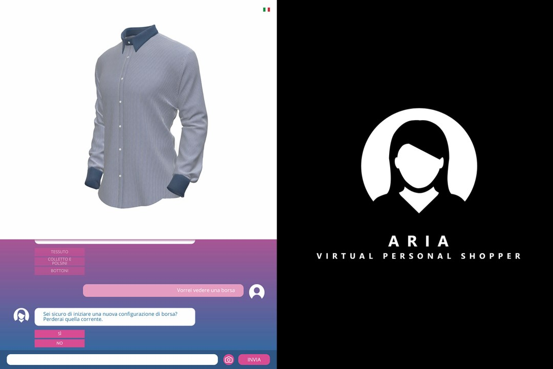 ARIA 3D virtual personal shopper configurator