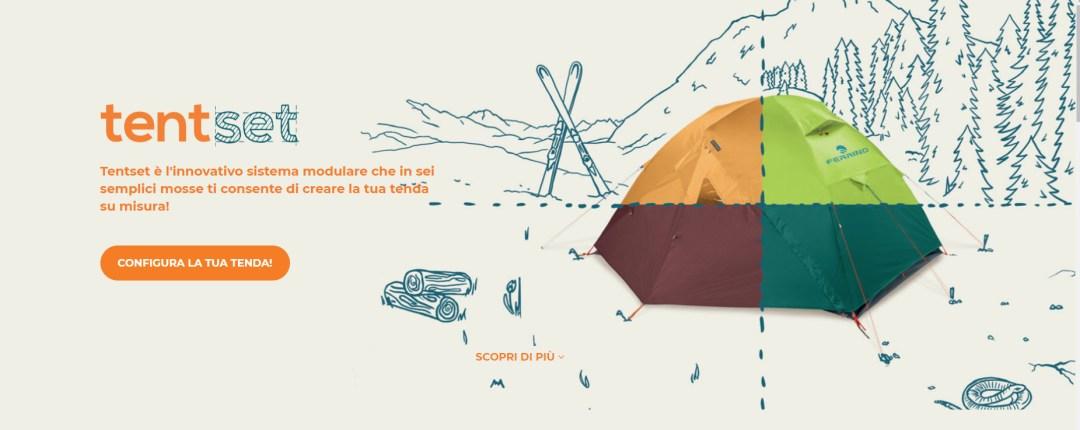 TentSet tenda su misura Ferrino configuratore 3D