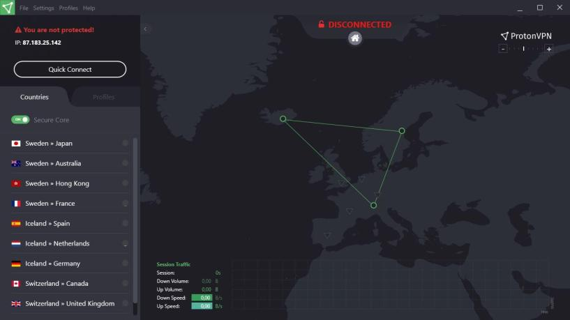 ProtonVPN Review- secured connections