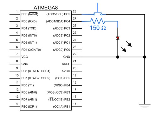 small resolution of atmega8 switch and led