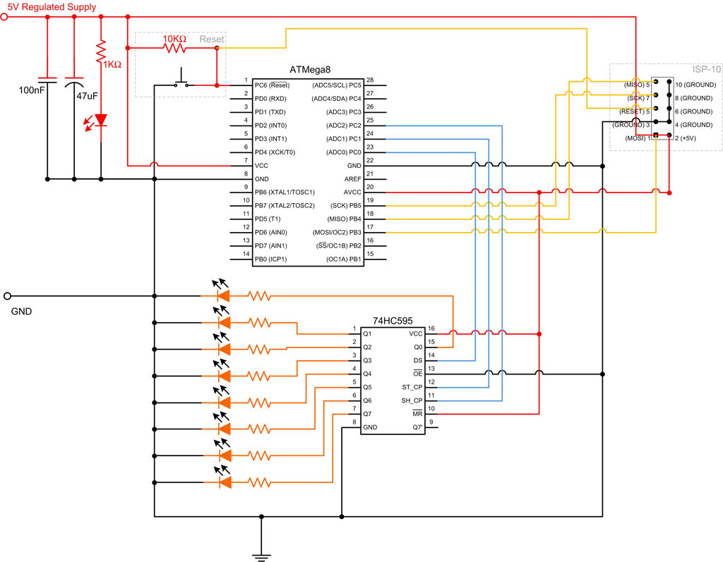 hight resolution of 595 shift register circuit diagram