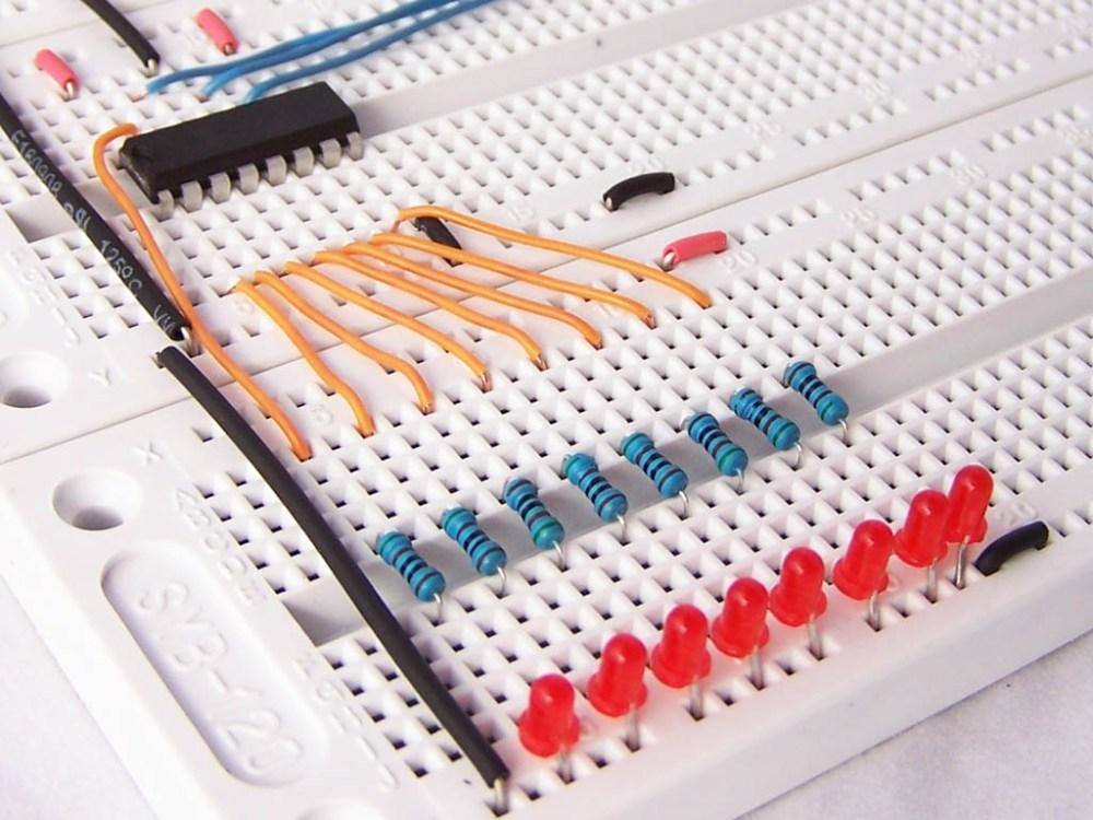 medium resolution of 595 shift register breadboard circuit