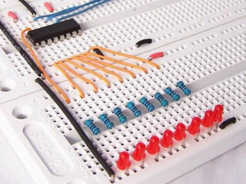 small resolution of 595 shift register breadboard circuit