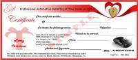Automotive Gift Certificate Template  Gift Ftempo