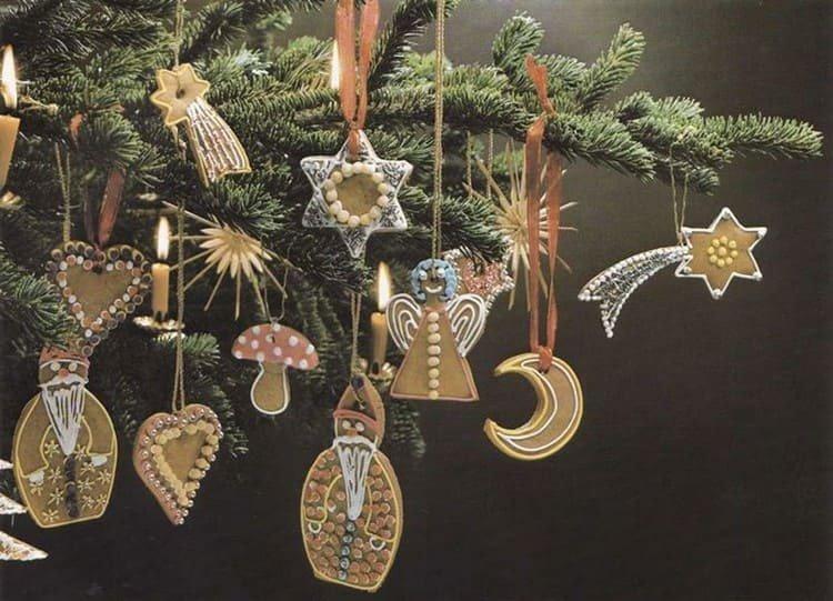 Фигурки из печенья для елки