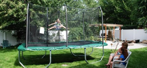 Skywalker Rectangle 8x14 Feet Trampoline And Enclosure