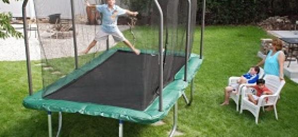 Skywalker Rectangle 8 X 14 Ft. Trampoline And Enclosure; Innovative Design
