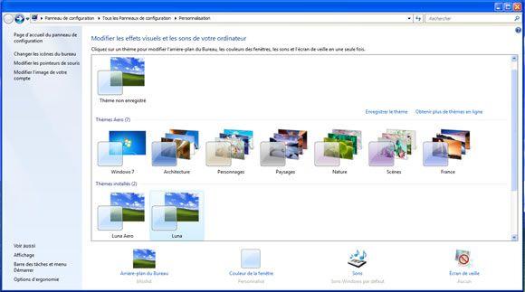 Le th me visuel luna de windows xp pour windows 7 for Fenetre windows xp