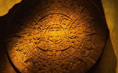 Calendario Azteca tallado en piedra (Aztec Carved Calendar Stone)