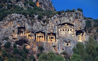Likya Antik Kaya Mezarlari, Antalya, Türkiye (Ancient Lycian Roc