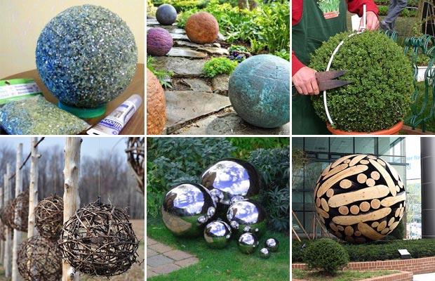 cool diy garden globes