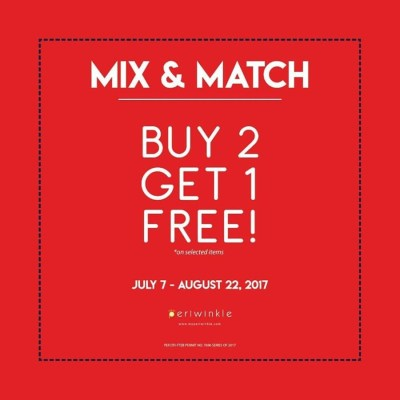 Periwinkle BUY 2, Get 1 FREE Promo until August 22, 2017!