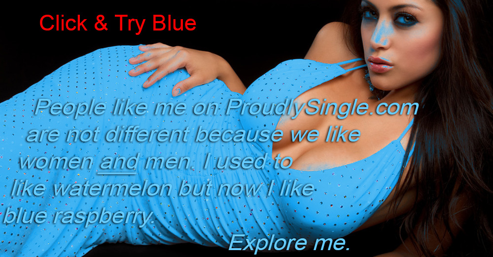 I-am-different-and-proudly-single-spray-painted-blue-raspberry-watermelon-woman