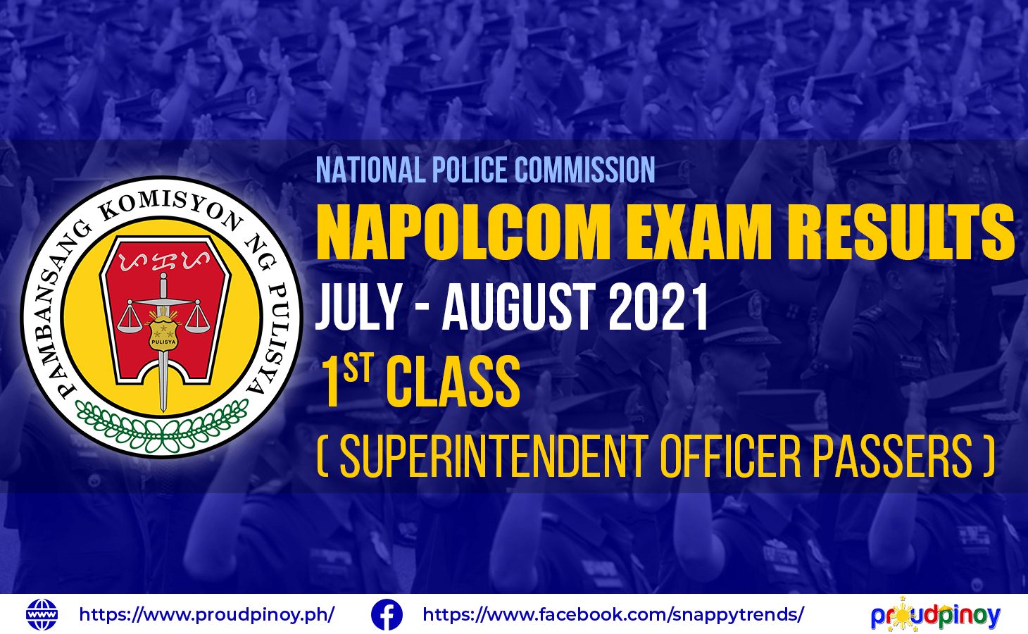 NAPOLCOM Exam Results July-August 2021, Superintendent Passers
