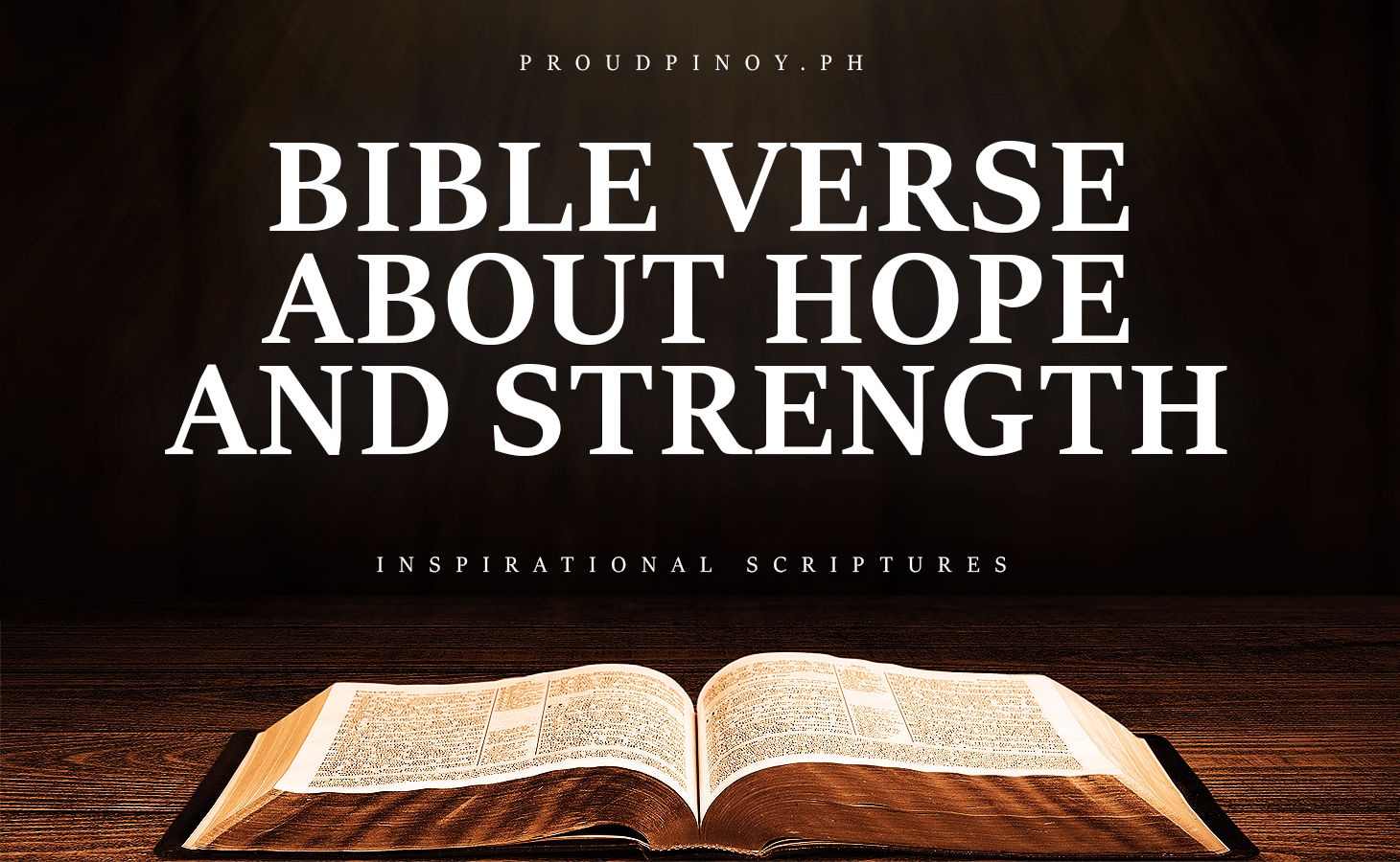 Bible Verse About Hope and Strength in Hard Times