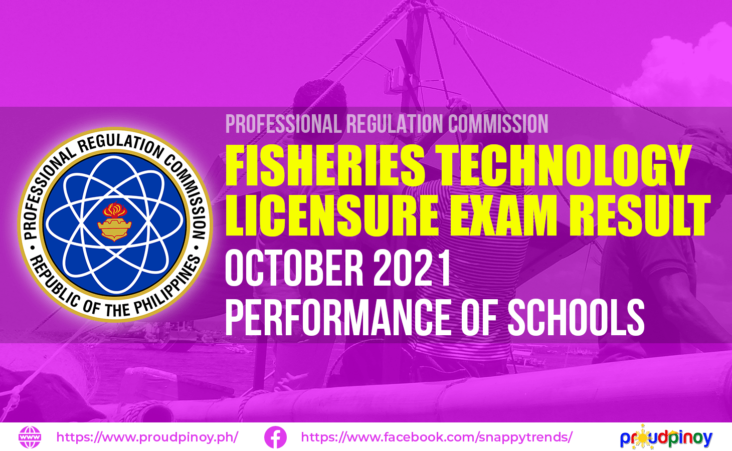 Fisheries Technologist Exam Results October 2021 Performance of Schools
