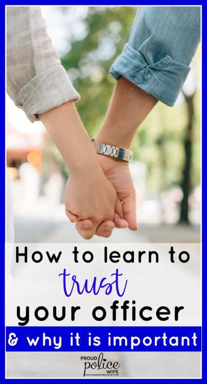 How to learn to trust your officer (& why it is important)