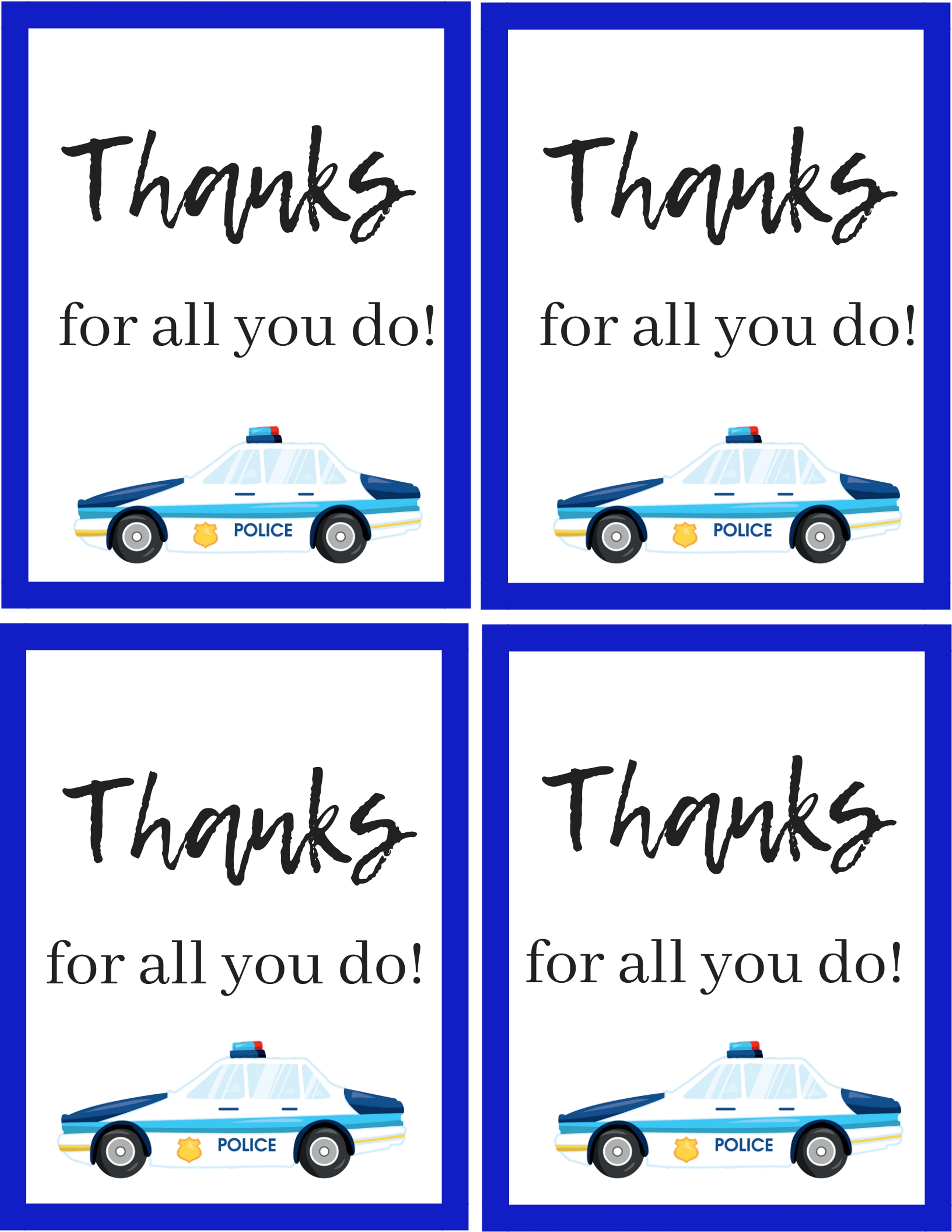 How To Thank A Police Officer With A Free Police Printable