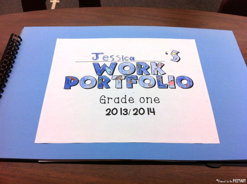 student led conference work portfolios - how to