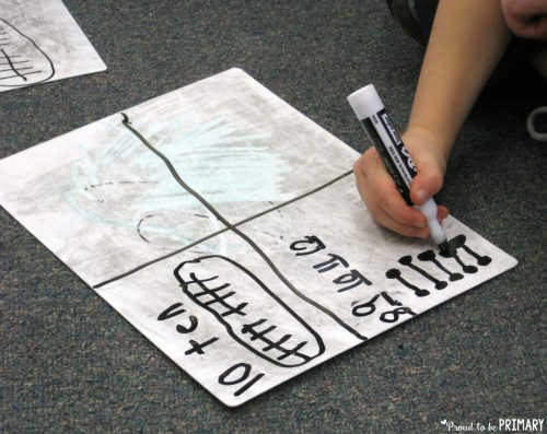 number of the day activities - whiteboard
